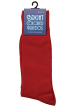 Men's Red Dress Socks