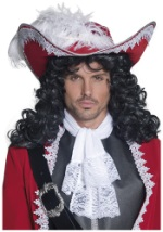 Feathered Red Pirate Hat