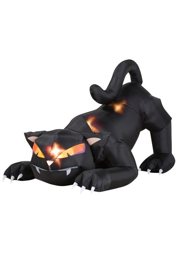 Scary Inflatable Cat w/ Moving Head