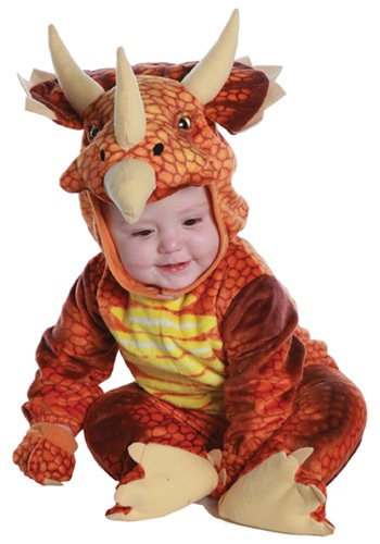 Rust Triceratops Toddler/Infant Costume