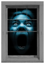 Silent Shrieker Scary Window Cling