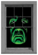 Green Demon Scary Window Cling
