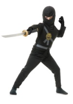 Black Ninja Master Child Costume