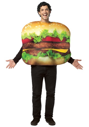 Adult Double Cheeseburger Costume