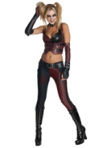 Womens Arkham City Sexy Harley Quinn Costume