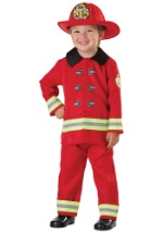 Toddler Fireman Turnout Costume