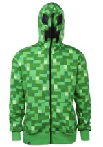 Kids Minecraft Creeper Hooded Sweatshirt
