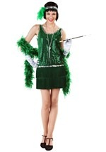 Green Flapper Girl Plus Costume