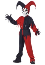Boys Evil Red Jester Costume