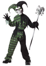 Child Green Death Jester Costume