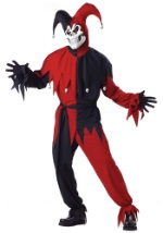 Scary Jester Adult Costume