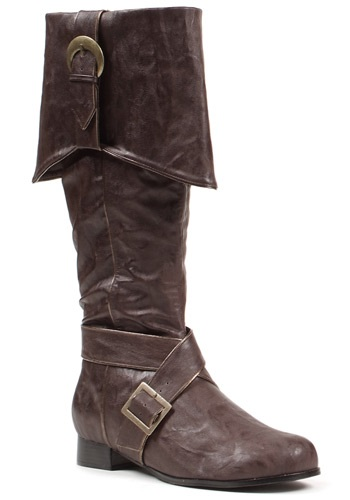 Mens Gold Buckle Pirate Boots