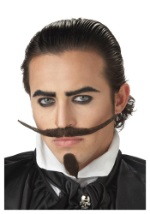 Mens Musketeer Mustache and Chin Patch