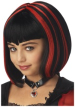 Red and Black Girls Vampire Wig
