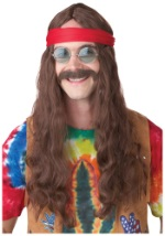 Hippie Wig and Mustache