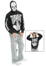 Skeleton Zip Up Hoodie Sweatshirt