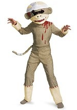 Boys Sock Monkey Zombie Costume