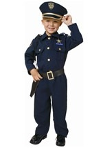 Deluxe Police Officer Costume For Toddlers