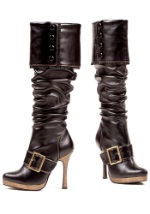 Sexy Black Pirate Boots