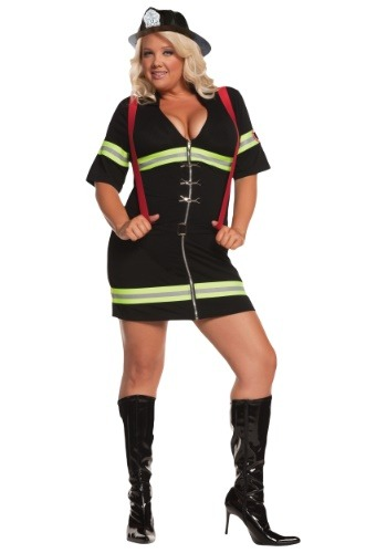 Plus Size Blazing Firegirl Costume