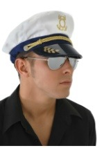 Mens Boat Captain Hat