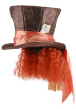 Mad Hatter Top Hat w/Hair