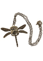 Steampunk Antique Dragonfly Necklace