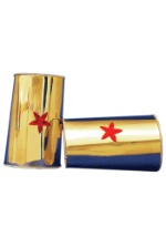Gold Red Star Wonder Cuffs