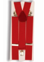 Red Mafia Suspenders