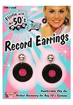 Record Clip-On Earrings