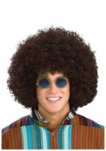 Hippie Brown Afro Wig