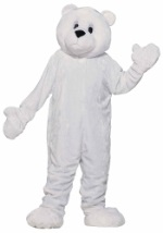 Adult Polar Bear Mascot Costume