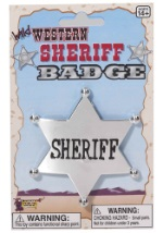 Wild West Silver Sheriff Badge