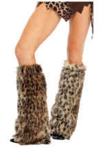 Furry Leopard Cat Leg Warmers