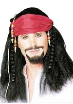 Braided Pirate Bandana Wig