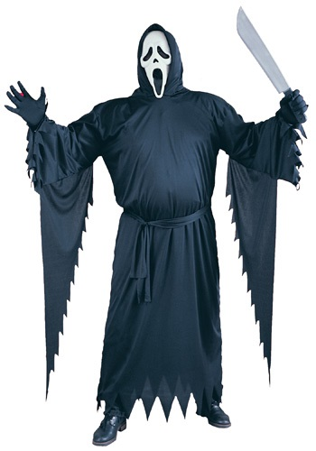 Scary Plus Size Scream Costume