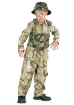 Boys Camouflage Soldier Costume