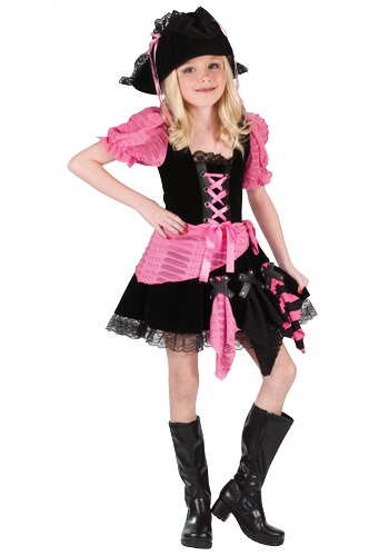Child Pink Pirate Costume
