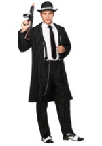 Black Gangster Suit Costume