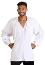 White Pirate Costume Shirt