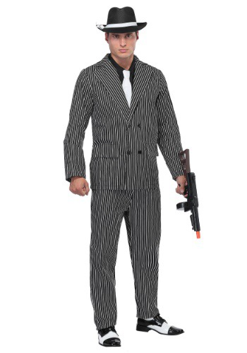 1920's Gangster Costume (Wide Pin Stripe)