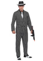 Mens Pin Stripe Gangster Costume