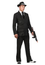 Deluxe Gangster Costume (Thin Pin Stripes)