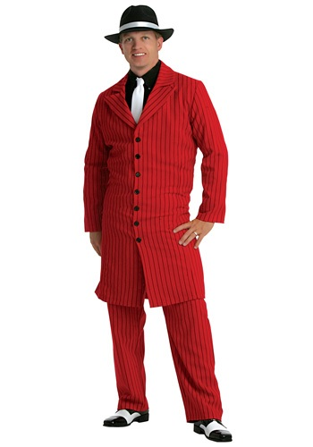 Plus Size Red Zoot Suit Costume