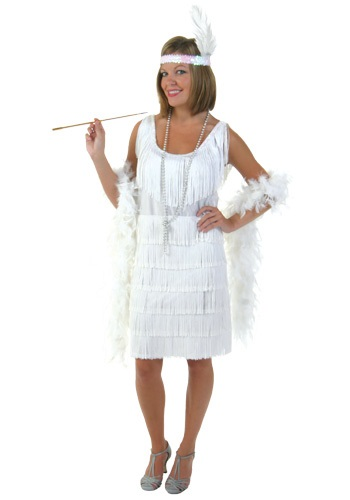 Plus White Flapper Costume