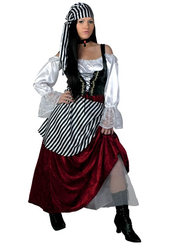 Deluxe Pirate Wench Plus Size Costume
