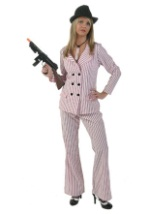Plus Size Pink Gangster Boss Costume