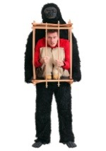 Person in Gorilla Cage Costume