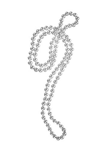 Silver Flapper Bead Necklace