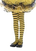 Black Yellow Striped Child Tights